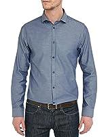 SELECTED - Herren- Blaues Hemd Bone-Teakgus für herren