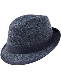 Fiebig Damas Trilby Fedora Sombrero De Tela Moda Del Otoño Invierno Gorro  Fiesta Vacaciones Lana Mezcla 139cecad8d7