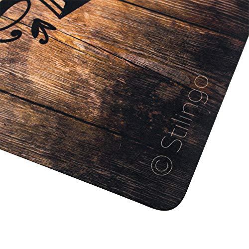 Fußmatte außen und innen Tür-Matte mit Spruch Home Sweet Home Stilingo Fußabtreter Vorleger drinnen und draußen 70 x 50 cm - 2