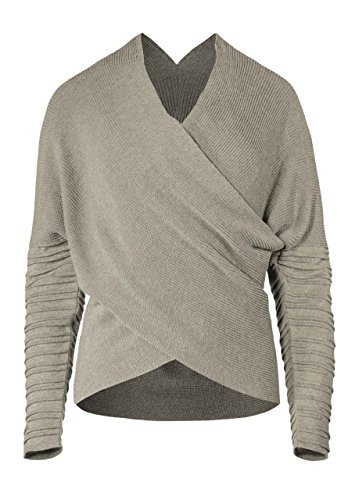 s Pullover Damen Rey Strick Sweater Sweatshirt Wrap Top Beige XS (Film Qualität Star Wars Kostüme)