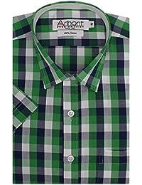 Arihant Men's Half Sleeves Checkered Cotton Regular Fit Formal Shirt