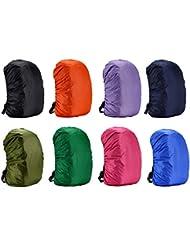 Cubierta impermeable para mochila, para caminar al aire libre, camping, de Rungao, naranja, 70L