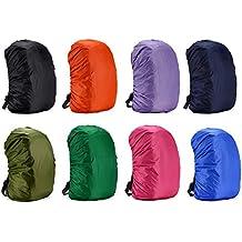 Cubierta impermeable para mochila, para caminar al aire libre, camping, de Rungao, naranja, (60L) UK