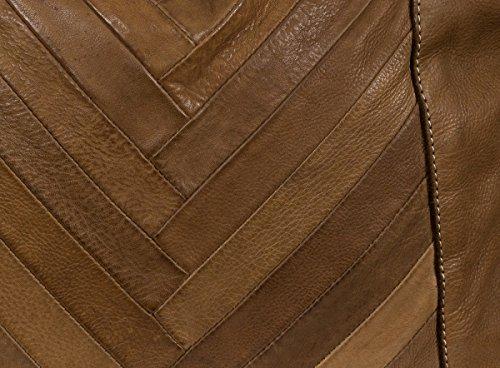 FREDsBRUDER Vision Borsa a tracolla Satchel in morbida pelle vintage (32x 27x 5cm) Caramel (Marrone)