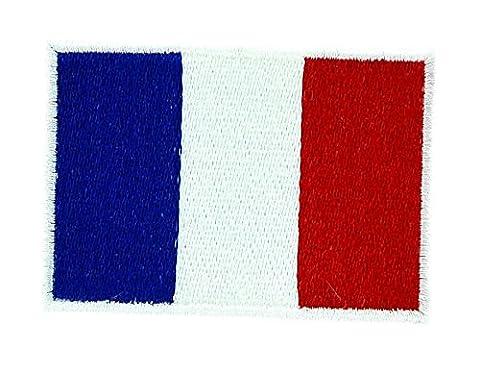 Patch écusson brodé drapeau france français thermocollant backpack sac à dos 7x5