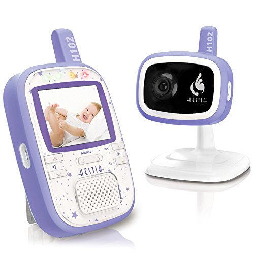 Hestia H102 Digital Video Baby Monitor with Camera, 2.4 inch LCD, Night Vision, 2 Way Talk, VOX  Hestia H102 Digital Baby Monitor with Camera 51XHlwlTmxL