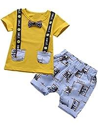K-youth® Ropa Bebe Niño Verano, Conjunto de Ropa de Nino Bebe Camiseta
