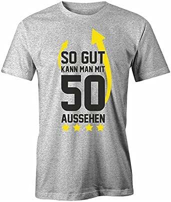 Jayess Geburtstag - so Gut Kann Man mit 50 Aussehen Pfeil - Herren T-Shirt in Grau Meliert by Gr. S