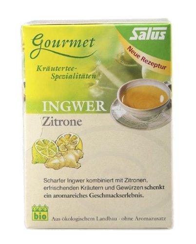 Salus Gourmet Ingwer Zitrone Tee, 15 beutel