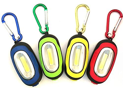 COB LED Schlüsselanhänger Licht mit Magnet NHSUNRAY Magnetische Taschenlampe mit Karabiner, tragbar und Mini Größe, 4 verschiedene Farben Super Helle Led Keychain