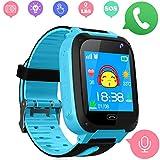 Niños Smart Watch Phone - LBS Tracker Smartwatch para niños de 3-12 para niños y niñas SOS Camera Anti-Juego perdido para Tarjeta SIM Juego de Pantalla táctil Smartwatch Childrens Gift (Azul)