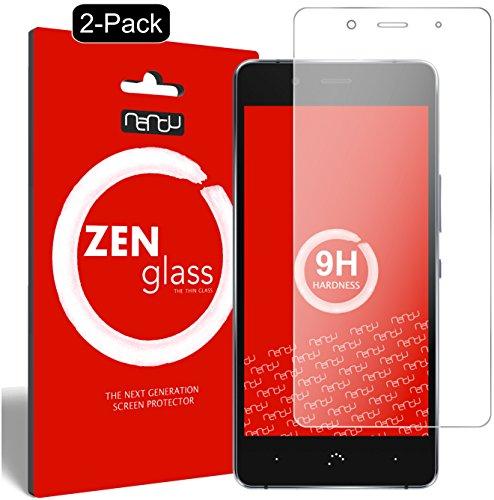 nandu I ZenGlass [2 Stück] Flexible Glas-Folie für BQ Aquaris X5 Plus Panzerfolie I Bildschirm-Schutzfolie 9H
