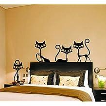 Pegatinas 4 gatos para salon dormitorios cuartos infantiles de OPEN BUY
