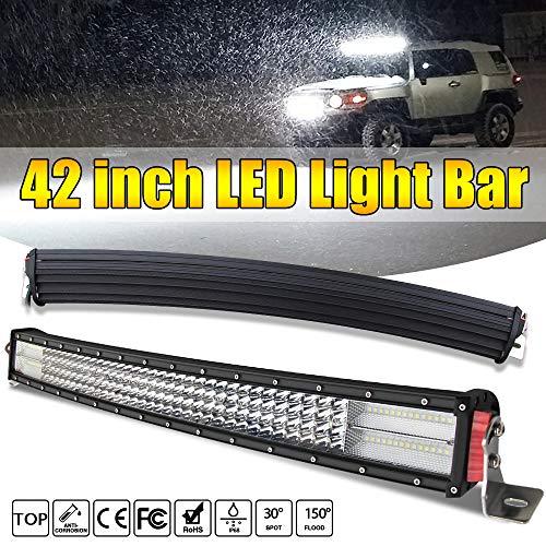LED Kurve Lichtbalken Arbeitsscheinwerfer bar 42 Zoll led bar 107.4 cm led balken Offroad Beleuchtung Arbeitsleuchte Nebelscheinwerfer Flutlichtstrahler spot 744W 12V 24V