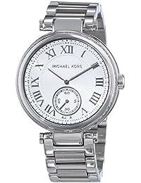 Michael Kors  0 - Reloj de cuarzo para mujer, con correa de acero inoxidable, color plateado