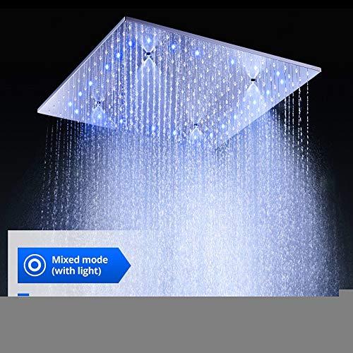 YAMEIJIA Bagno Moderno 500X500MM LED Pioggia soffione Doccia / 304 SUS soffitto Bagno Doccia a Vapore Quadrato