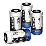 RCR123A Akku Arlo, Keenstone 3.7V 750mAh Lithium CR123A Wiederaufladbare Batterien for Netgear Arlo Camera (4 Stück)