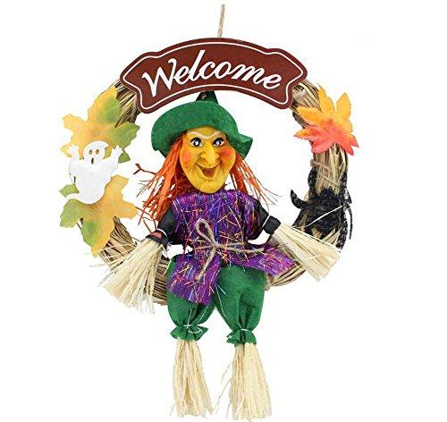 Kanggest Colgante de Halloween Bruja Guirnalda Adornos de Halloween Puerta que Cuelga para Bares de fiesta de Halloween Decoración, 1 Piezas(Color aleatorio)