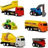 Vehicules Construction Voiture Friction Engin Chantier Lot Voiture Jouet Enfant 6 Pièces