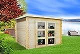 Alpholz Gent Gerätehaus Holz mit Boden | Gartenhaus klein mit. Dachpappe | Geräteschuppen naturbelassen ohne Farbbehandlung (270 x 210)