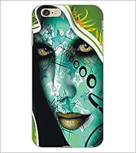 PrintDhaba Beautiful Face D-5453 Back Case Cover for APPLE IPHONE 6 (Multi-Coloured)