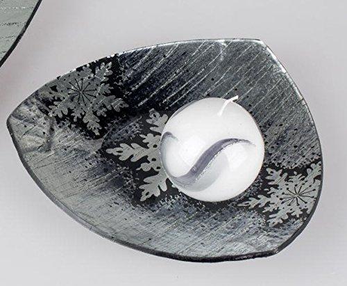 Formano Assiette décorative en Forme de bougeoir pour l'hiver 20 cm