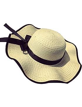 Bowknot Sombrero Del Verano Al Aire Libre Para Mujer Playa Cap Sombrero Del Verano Gorra Con Visera Solar Sombrero...