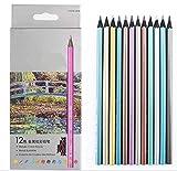 Matite colori non tossico per nuove fonti di scuola d'arte (12 colori metallici)