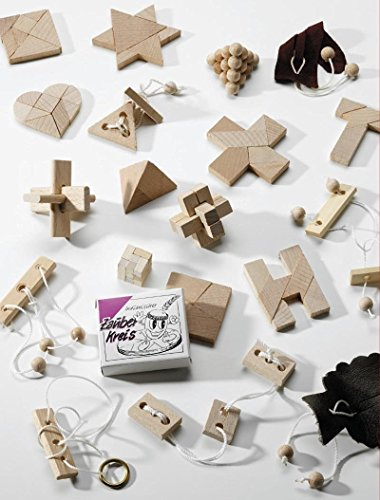 24 beliebte Geduldspiele / Knobelspiele aus Holz z.B. für Adventskalender by GICO