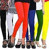 #6: Gopani Cotton Lycra Leggings for Women Combo (Pack of 6)