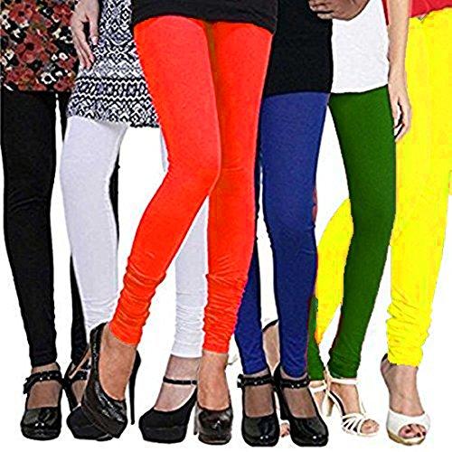 Gopani Cotton Lycra Leggings for Women Combo (Pack of 6)