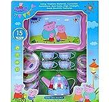 GoMerryKids Role Play Tin Tea Set Children Tea Party (Peppa Pig)