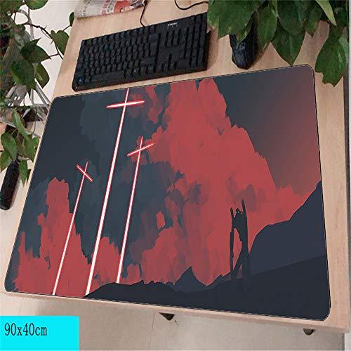Unterstützung großen Overlock Rand Meer Mauspad rutschfeste Computer Matte Größe Gummi-Mauspad, um Ihren Tisch zu schmücken 5 400X800X3MM