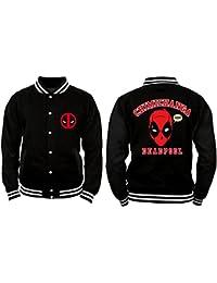 Deadpool - Chimichanga Hombres College Jacket - Negro