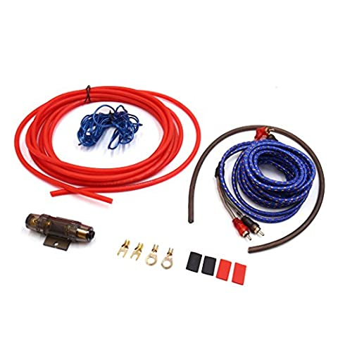 sourcingmap® 6 in 1 8GA Audio Stereo Amplifier Installation Kit Car RCA Interconnect Cable