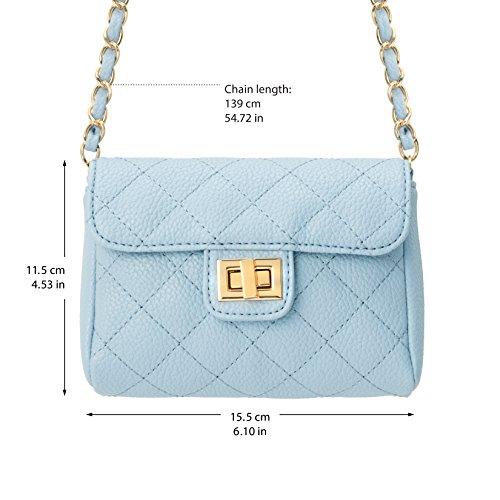 M&c, Borsetta da polso donna Azzurro (Baby Blue)