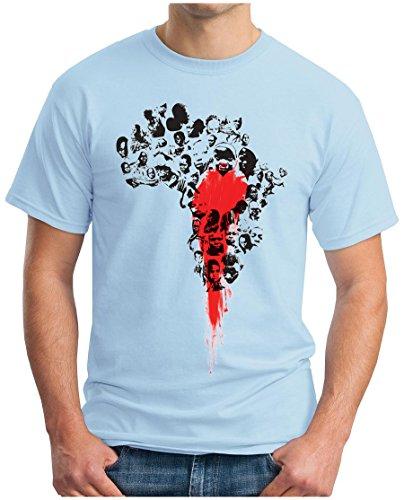 OM3 - BLOODY AFRICA - T-Shirt Apartheid BLACK Kolonialismus Sklaverei EBOLA SWAG EMO , 5XL, himmelblau