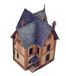 Keranova keranova3131: 87Escala 12x 12x 16cm Clever Papel Tren colección Edificios Villa en Vesinet 3D Puzzle