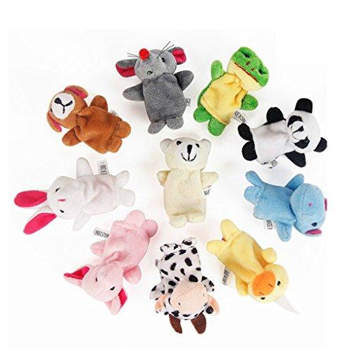 jinzuke 10pcs Doble Pata de Animal Finge Títeres Precioso para los niños