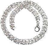 Flache Königskette 14mm - massiv 925 Silber, Länge 50cm