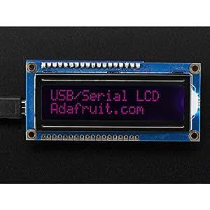Kit Backpack USB + Série avec Afficheur LCD 16x2 RGB - rétroéclairé - négatif