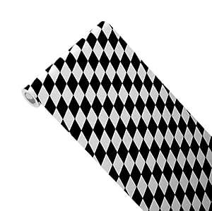 junopax chemin de table en papier noir blanc papier. Black Bedroom Furniture Sets. Home Design Ideas