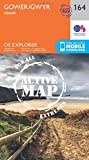 OS Explorer Map Active (164) Gower, Llanelli