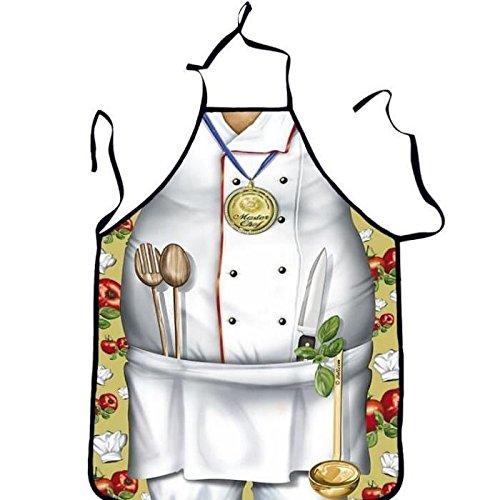 Tablier de cuisine humoristique Homme Chef Cuisinier - Cuisine Cadeau Deguisement Humour Noel - 215