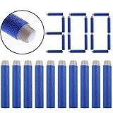 COSORO 300er 7.2cm Blau des neuen Entwurfs TPR Hohlweichschaum Bullets EVA Darts Pfeile für alle Nerf Gun N-Strike Elite Blaster, Nerf Zubehör
