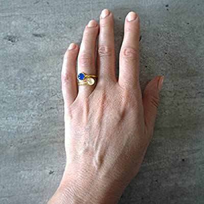 Mood ring - bague d'humeur GOLD TWINS