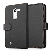 Yousave Accessories LG G Pro 2 Case Black PU Leather Wallet Cover