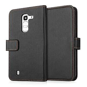 Yousave Accessories Coque LG G Pro 2 Etui Noir PU Cuir Portefeuille Housse