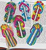 Pack of 12 - Plastic Flip Flop Bookmarks - Great Party Loot Bag Fillers