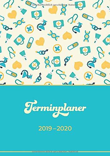 Terminplaner 2019-2020: Für Krankenschwestern und Ärzte | Mit Nachtdienst-Kalender für jede Woche | Juli 2019 bis Dezember 2020 | Deutschlands Feiertage auf einen Blick